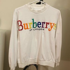 🌈Burberry Embroidered Crewneck Sweater
